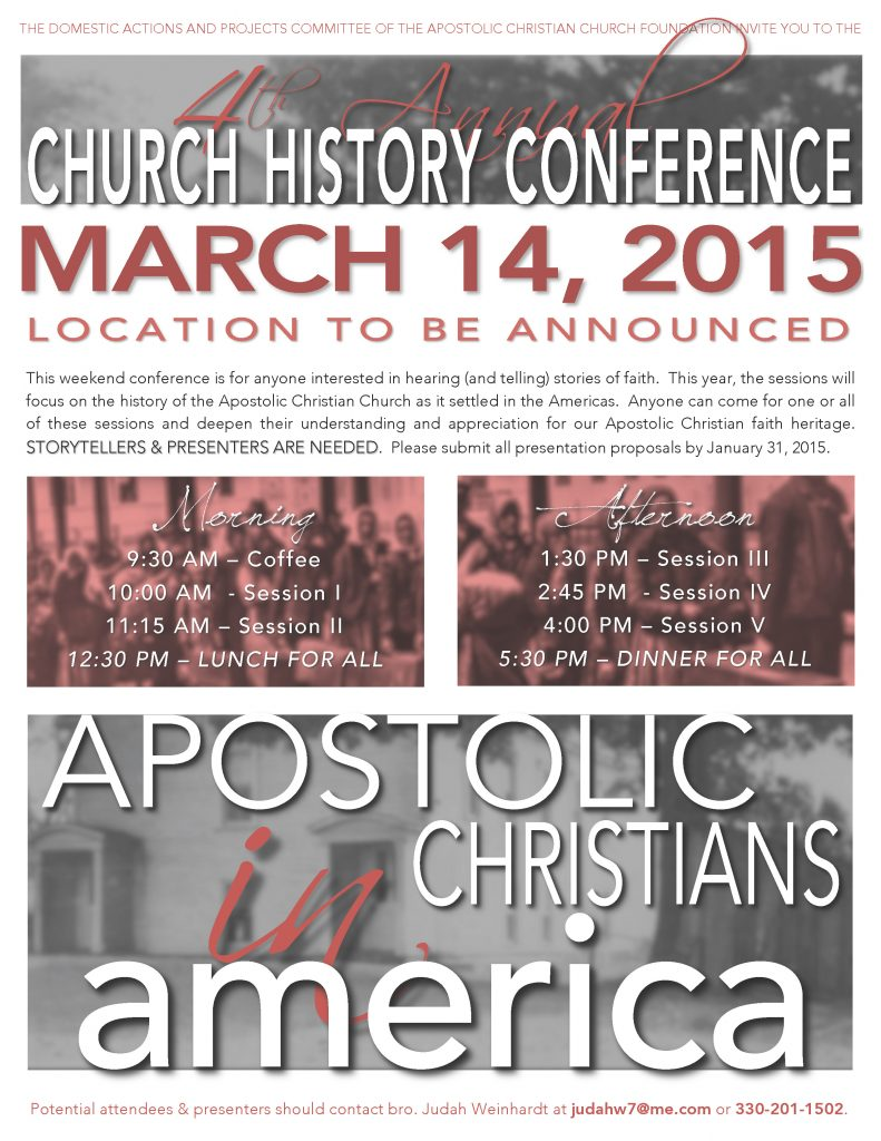 2015 History Conference Flyer